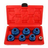 7Pcs Oil Filter Cap Wrench Removal Tool Set Kit Aluminium Cap For Mercedes VW LM