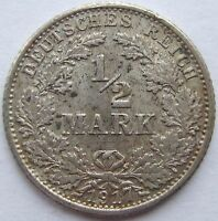 Top! 1/2 Mark 1917 G IN Extremely fine
