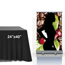 24x40 Tabletop Standard Retractable Roll Up Banner Stand Trade Show Display