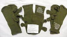 (3) Wool (75%) Glove Liner Trigger Finger Mittens Liners Mitten Hunting MEDIUM