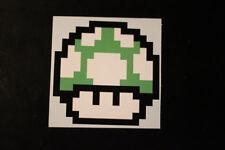 8 Bit Green 1 Up Mushroom Sticker Decal
