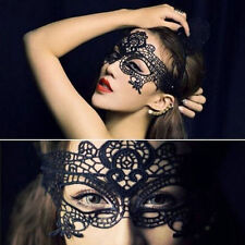 Stunning Black Venetian Masquerade Mask Eye Halloween Party Lace Fancy Dress