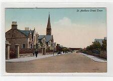 ST.MEDDANS STREET, TROON: Ayrshire postcard (C1955).