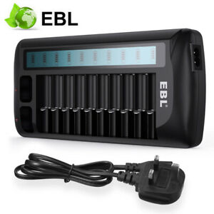 EBL 12 Bay LCD Rapid Charger For AA AAA 9V NiMH NiCD Multi Rechargeable Battery