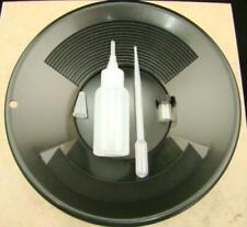 "California Gold Panning Kit -10"" Black Pan-Bottle Snuffer-Bubble Sniffer-Vial"