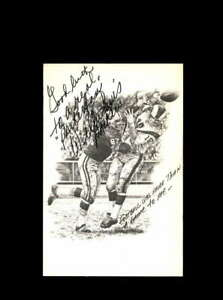 Willie Davis Signed Hall Of Fame 3 1/2 x 5 1/2 Card Green Bay Packers Postcard