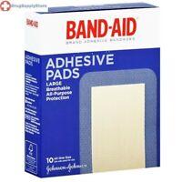 Band-Aid Large Adhesive Pads, 10/Box