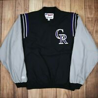 Mens Vintage Majestic Athletic Varsity Jacket Black Size XL RN53157