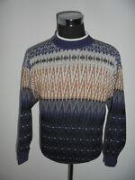 vintage BERT Pulli sweater cosby knit hip hop strickpulli oldschool gemustert M