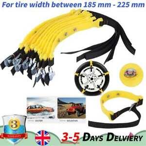 10*Car Anti-skid Snow Tyre Tire Chains Beef Tendon Vehicles Wheel TPU Chain+Bag