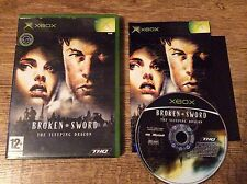Broken Sword, The Sleeping Dragon Xbox Game! Complete! Look At My Other Games!