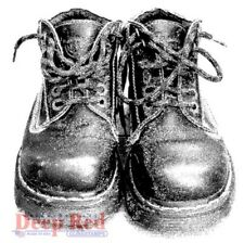 Deep Red Stamps Doc Martens Boots Rubber Cling Stamp
