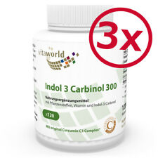 3er Pack Vita World Indol 3 Carbinol 300mg 3 x 120 Vegi Kapseln Curcumin C3