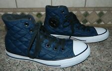 750c062620b09c CONVERSE CHUCK TAYLOR HI TOP Navy Blue Quilted SHOES  men s 5.5 women s 7.5