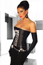 Satin Corsage M Kostüm Fasching Karneval Gothic