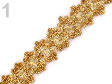 1m ejemplifican cenefa-joyas banda bricolaje decorar coser - 25 mm-oro - 510242