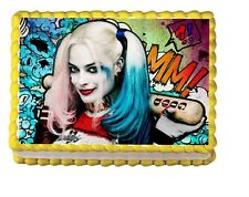 Suicide Squad Harley Quinn Edible Cake Topper 1/4 frosting icing sheet