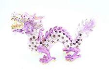 Purple Dragon Jewelry Trinket Box Decorative Collectible 02101