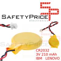 Bateria Pila Alimentacion CMOS BIOS 3V 210mAh 2 Pin PC Portatil IBM LENOVO