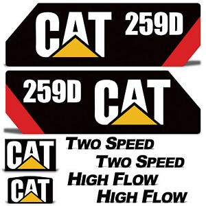 Caterpillar Graphic Decal Kit for CAT 259D Compact Track Loader