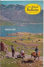national geographic-SCHOOL BULLETIN-jan 16,1967-GREENLAND.