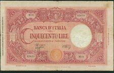 ITALY BANCA D'ITALIA  1943  500 LIRE BANKNOTE, VF, 31.3.43, PICK-69