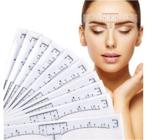 Permanent make-up Lineal Microblading Abstandsmesser 5 Stück klebend Augenbrauen