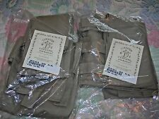 "Khaki Country Curtains Looped Sailcloth Tabs - Two Pairs 25"" L x 45"" W"
