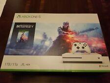BRAND NEW Microsoft Xbox One S 1TB Console - Battlefield V Bundle Factory Sealed