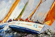 Modern Art - Sailing Regatta 60x90 cm Oil Painting 59626