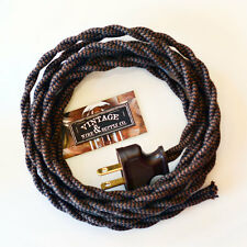 Coffee Blend Cotton Rewire Lamp Cord Cloth Twisted Wire - Fan Wire - Antique