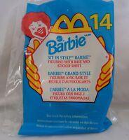 NIP 1999 McDonald's Kids Happy Meal Sit in Style Barbie #14
