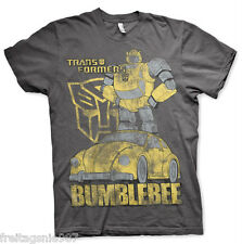 TRANSFORMERS BUMBLEBEE Distressed  T-Shirt  camiseta cotton officially licensed