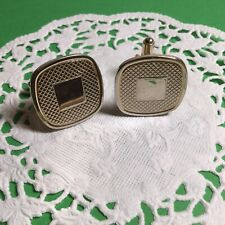 Cufflinks Nice Looking Design Awesome Pair Of Goldtone Mens