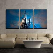 "Wall26 - Old Castle on the Hill - Canvas Art Wall Decor - 16""x24""x3 Panels"
