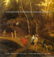 Sotheby's Important Old Master Paintings Drawings Auction Catalog November 1978