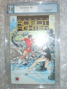 Immaculate !!! Magnus Robot Fighter #1 PGX 9.8 - Graded Valiant Comic 1991