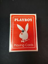 Vintage Playboy Playing Cards Orange Deck Rare US Playing Card Co.
