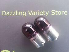 2 X púrpura Ba15s 245 12v 10w Auto bombilla lámpara de coche lado interior de la matrícula del Reino Unido