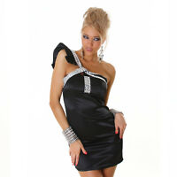 NEW SEXY LADIES COCKTAIL PARTY DRESS ONE SHOULDER WITH JEWELLED BODICE 6 8 10 12