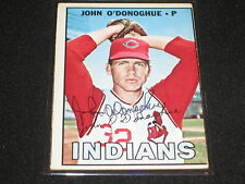 JOHN O'DONOGHUE SIGNED AUTOGRAPHED 1967 TOPPS INDIANS