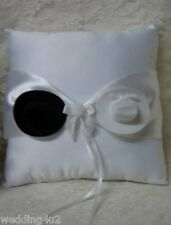 Wedding Party Ceremony Western Cowboy Hats Square Ring Bearer White Pillow