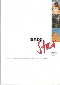 """""""Rado Star"""" 20 Pages Of The International Magazine For Rado Partners From 1998"""