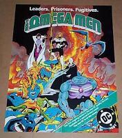Original 1982 DC Comics The Omega Men 1 comic book cover art promo poster:1980's