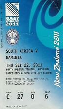 SOUTH AFRICA v NAMIBIA 2011 RUGBY WORLD CUP TICKET POOL D MATCH no22