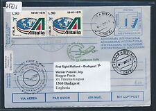 "78736) LH FF Mailand Italien - Budapest 2.3.2009, intern. postal stat.cover ""TP"""