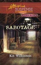 Sabotage (Love Inspired Large Print Suspense)