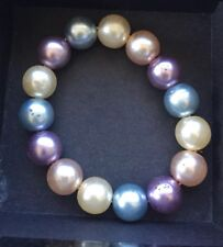 Joan Rivers Vintage Multi 5th Avenue simulato Pearl Stretch Bracciale in Scatola
