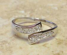 Trendy Sterling Silver Adjustable Toe Ring With Crystal Rhinestones UK SELLER