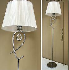 Lampada piantana stilizzata da terra design moderno 1,65 m in metallo cristallo